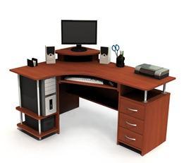 Фото угловых компьютерных столов
