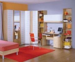 Современные детские стенки с письменным столом